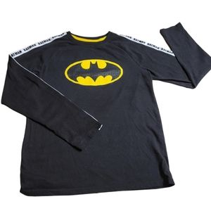 BatMan Long Sleeve T-Shirt, Black/Yellow, X-Large